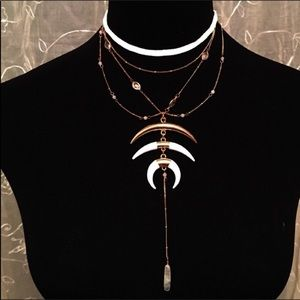 Free People Crystalline Horn Necklace